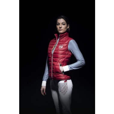 Animo ladies padded vest Liverno red