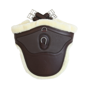 Kentucky Sheepskin stud girth special brown