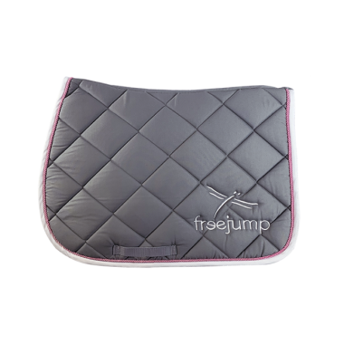 Freejump saddle pad grey'7pink