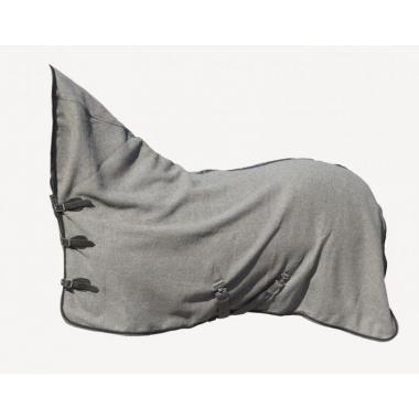 HC wool rug with neck grey