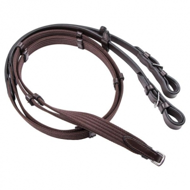 Cavaletti rubber reins with stoping