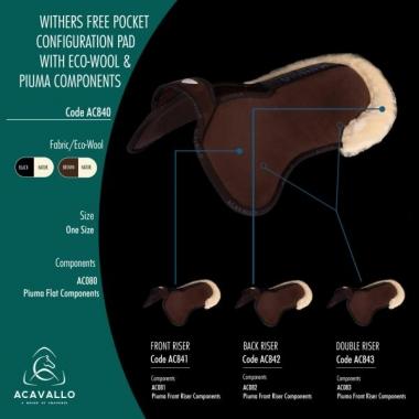 ACAVALLO WITHER FREE POCKET PAD, ECOWOOL-PIUMA