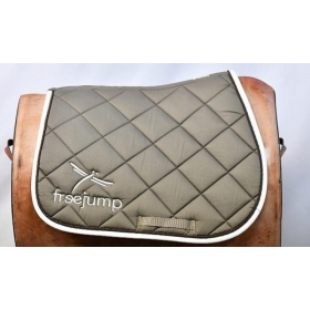 Freejump saddle pad brown