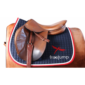 Freejump premium saddle pad red