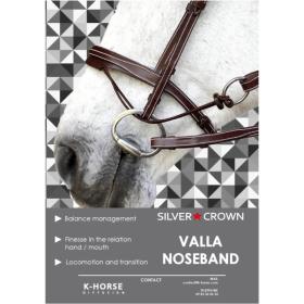 K-horse bridles Arezzo headpiece+valla noseband