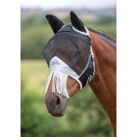 Fine Mesh Fly Mask With Nose Fringe