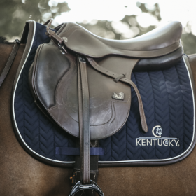 Kentucky fishbone leather  saddle pad
