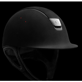 Samshield premium helmet black leather/silver