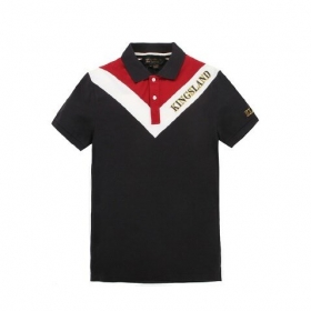Kingsland mens polo shirt Cerasus navy/red