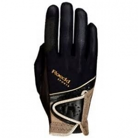 Roeckl gloves Micro Mesh black/gold