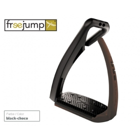 Freejump Softup pro stirrup black/brown