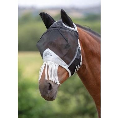 Fine Mesh Fly Mask With Nose Fringe