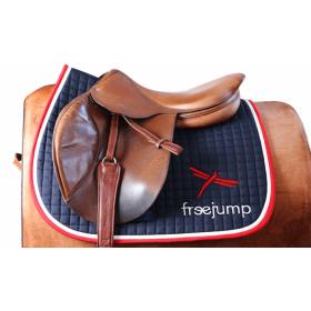 Freejump premium saddle pad red