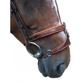 K-horse bridles Arezzo headpiece+X noseband