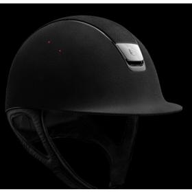 Samshield premium helmet black leather/silver