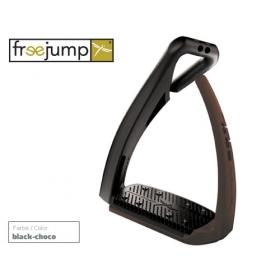 Freejump Softup pro stirrup black/brown